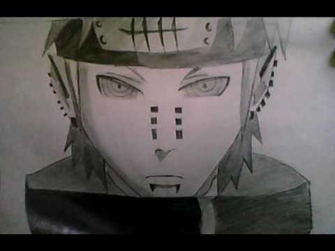 Drawn naruto pein  YouTube Naruto How To