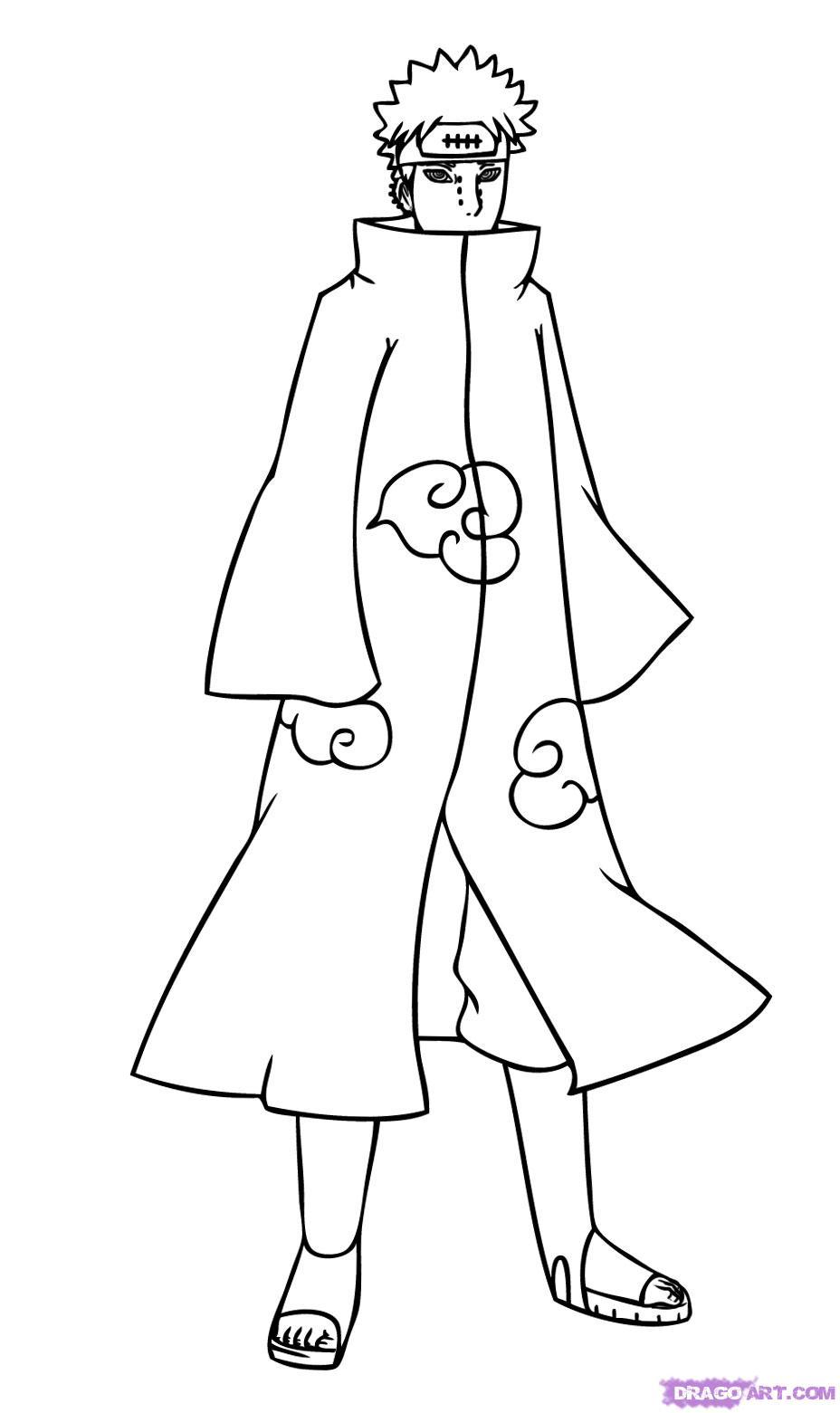 Drawn naruto pein How 6 How Naruto naruto