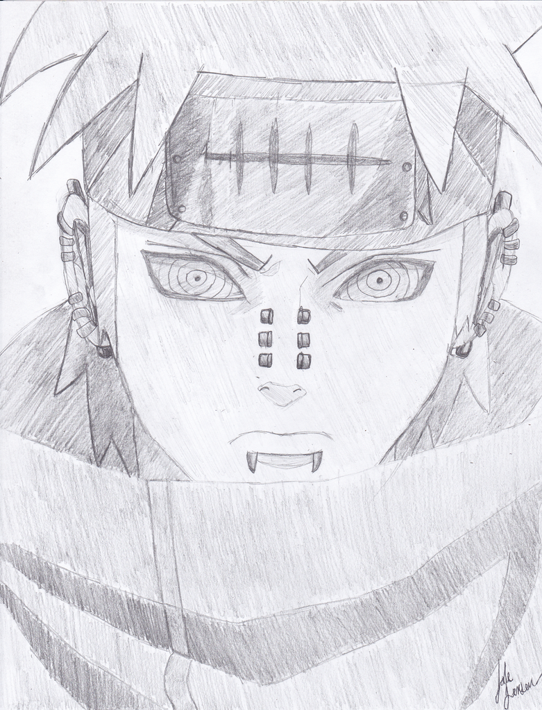 Drawn naruto pein Pain by jakedj93 One Attempt