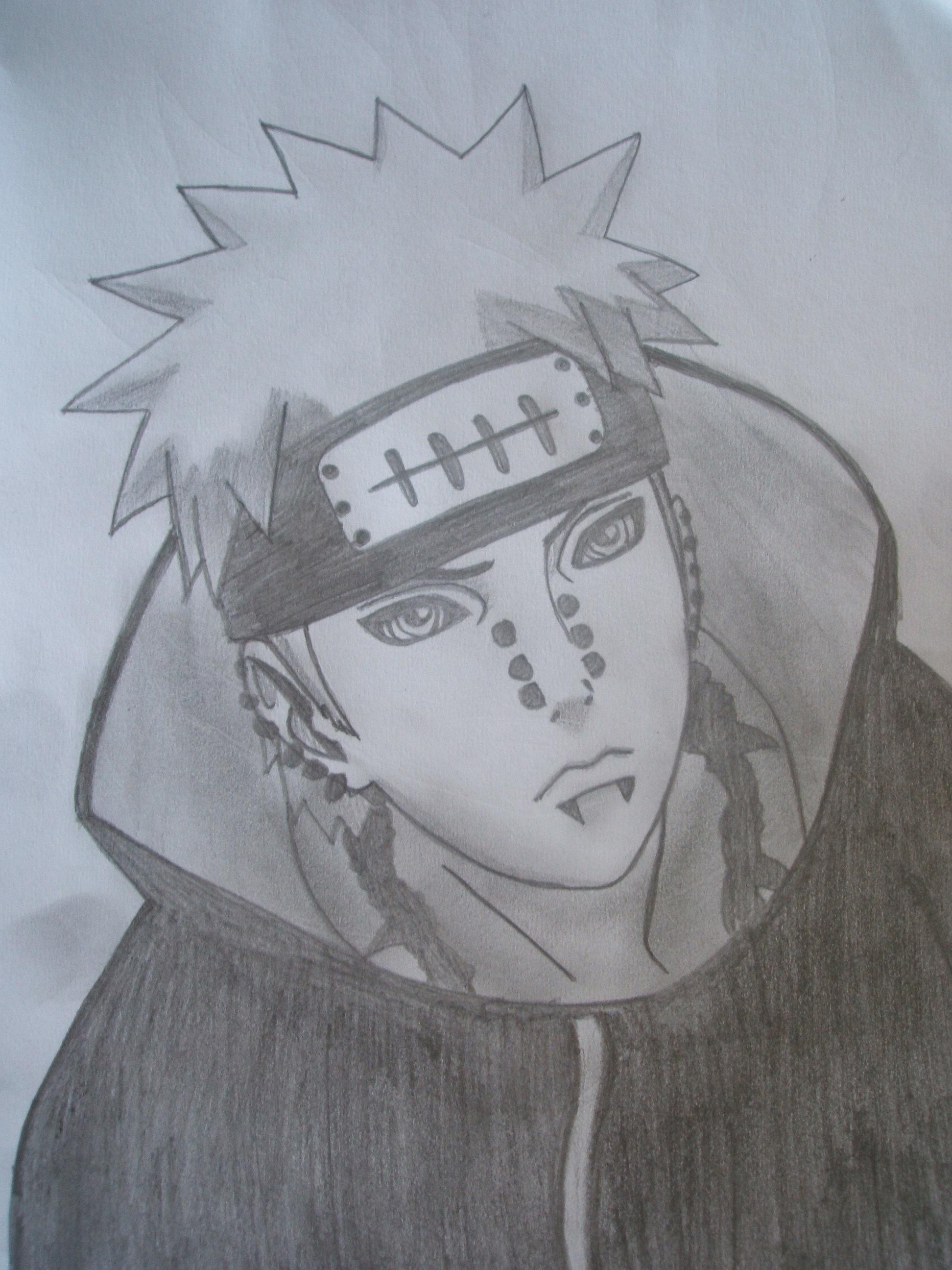 Drawn naruto pein Naruto Drawing Phlex Shippuden 26