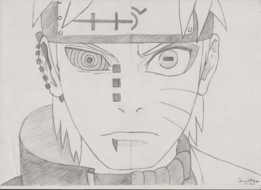 Drawn naruto pein Naruto Pain by Naruto on