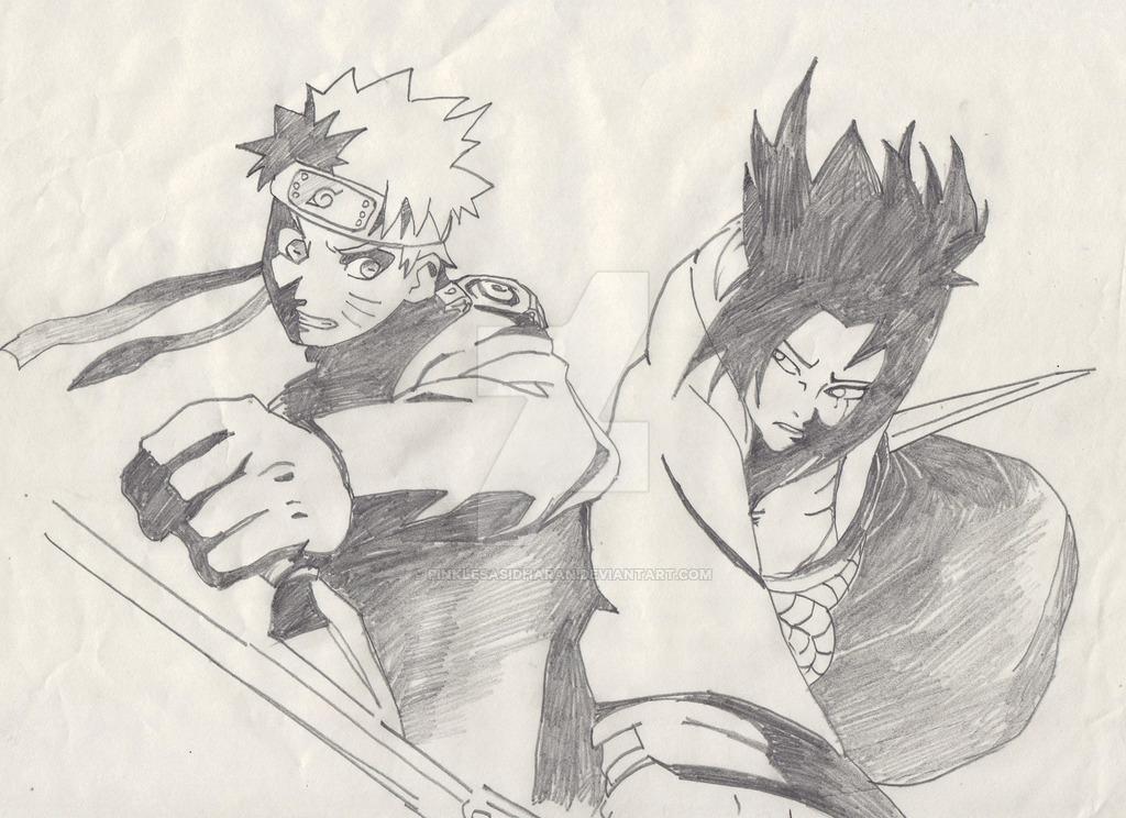 Drawn naruto pencil sketch DeviantArt by Sasuke Naruto PinkleSasidharan