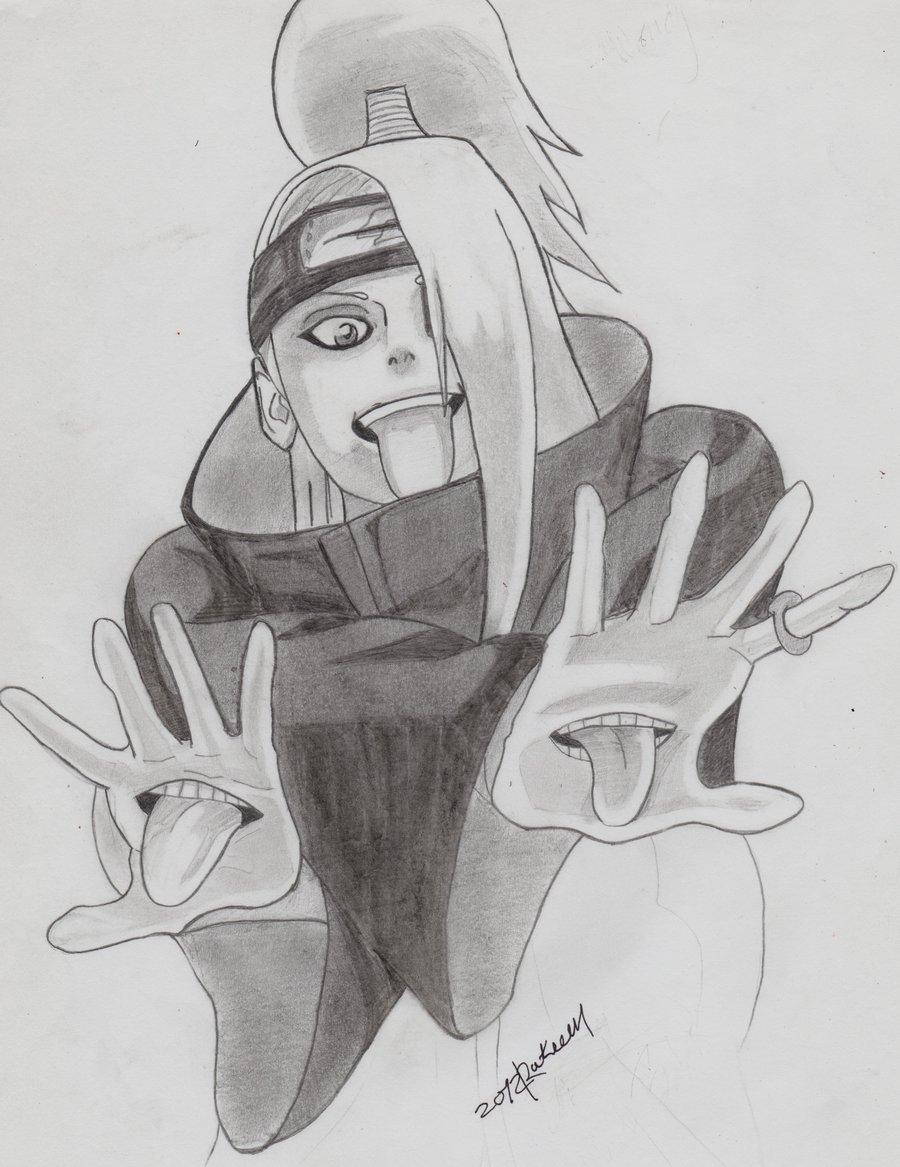 Drawn naruto pencil sketch On drawing drawing Deidara by