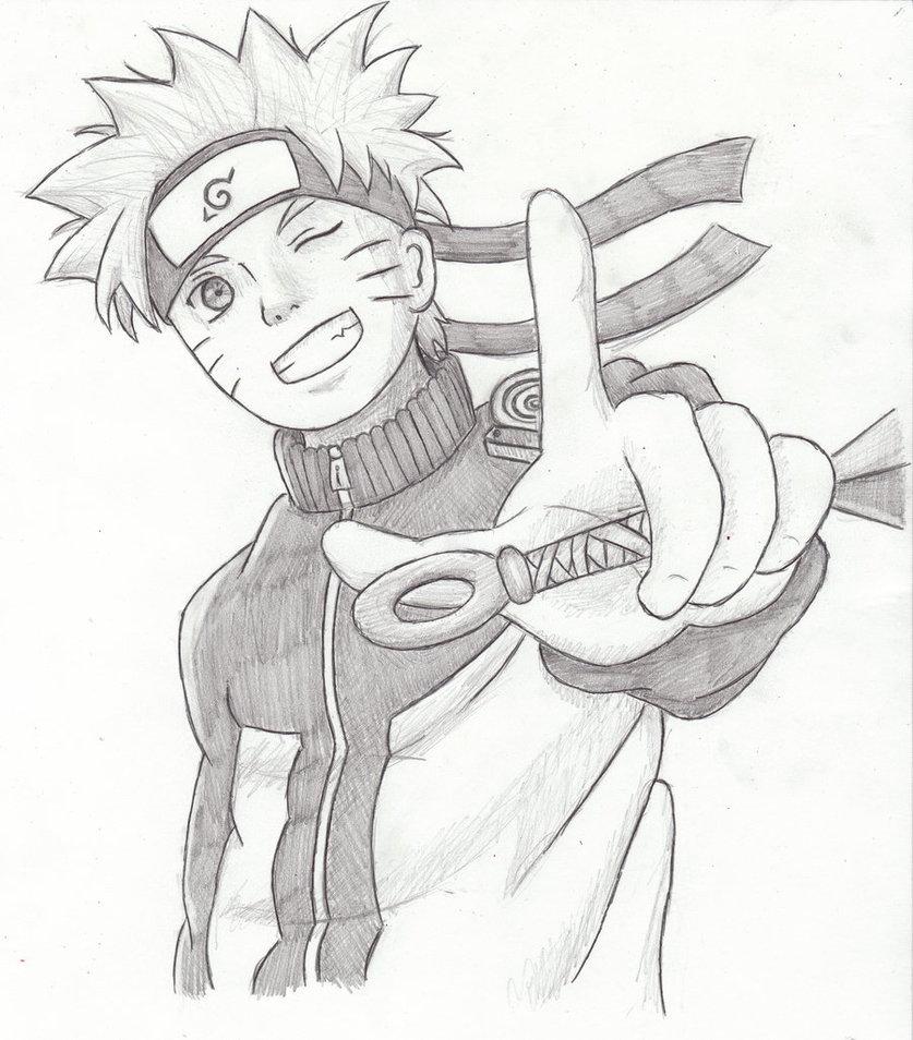 Drawn naruto pencil sketch Drawing Naruto Pencil Realistic Naruto