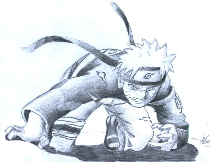 Drawn naruto pencil sketch By My DeviantArt by first