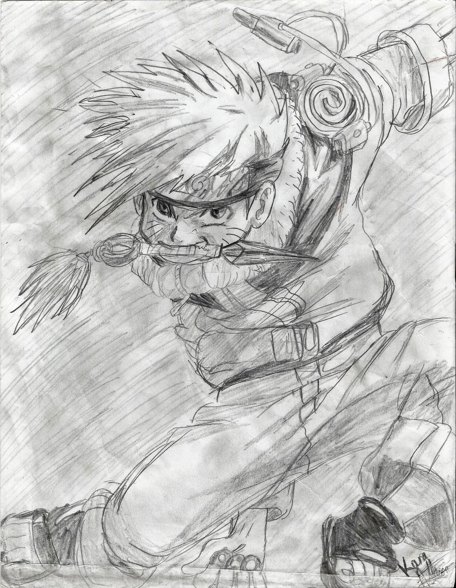 Drawn naruto pencil sketch On Drawing Drawing Naruto by