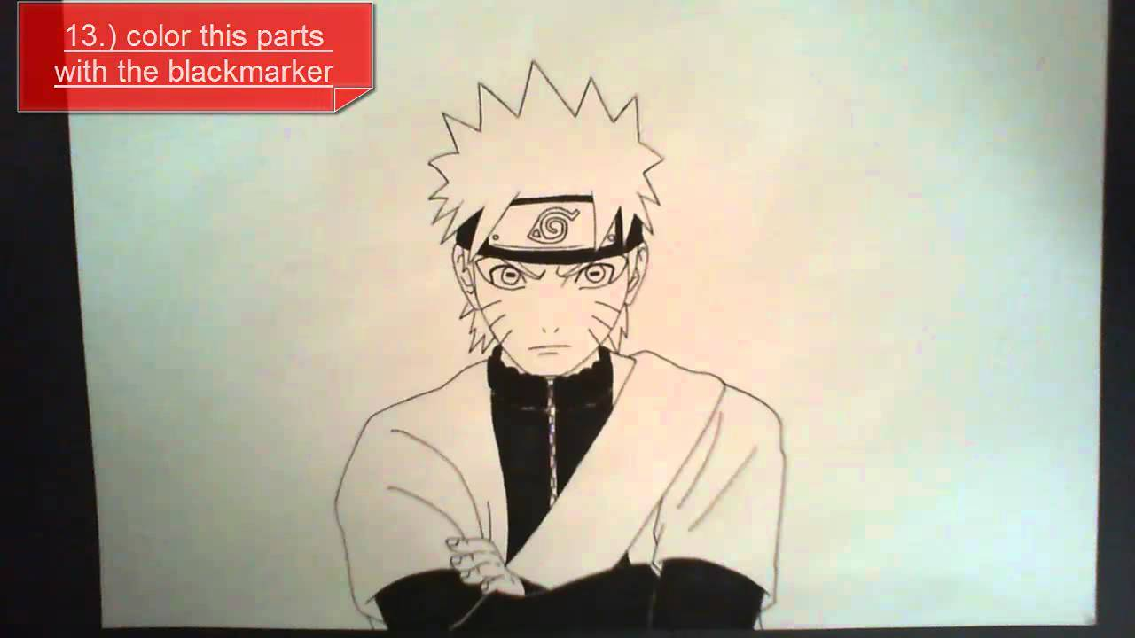 Drawn naruto pencil step by step Draw tutorial How step to
