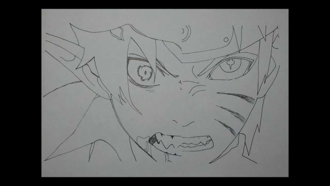 Drawn naruto rin VS Draw Naruto YouTube to