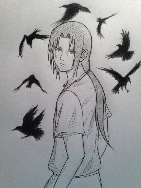 Drawn naruto sad Beautiful Crows Drawings 55 Drawings