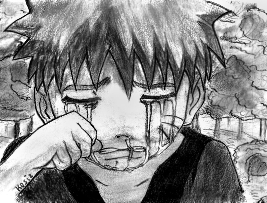 Drawn naruto sad Young by DeviantArt Naruto yashamaruPL