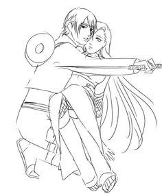 Drawn naruto sai / Ino :)  #Naruto