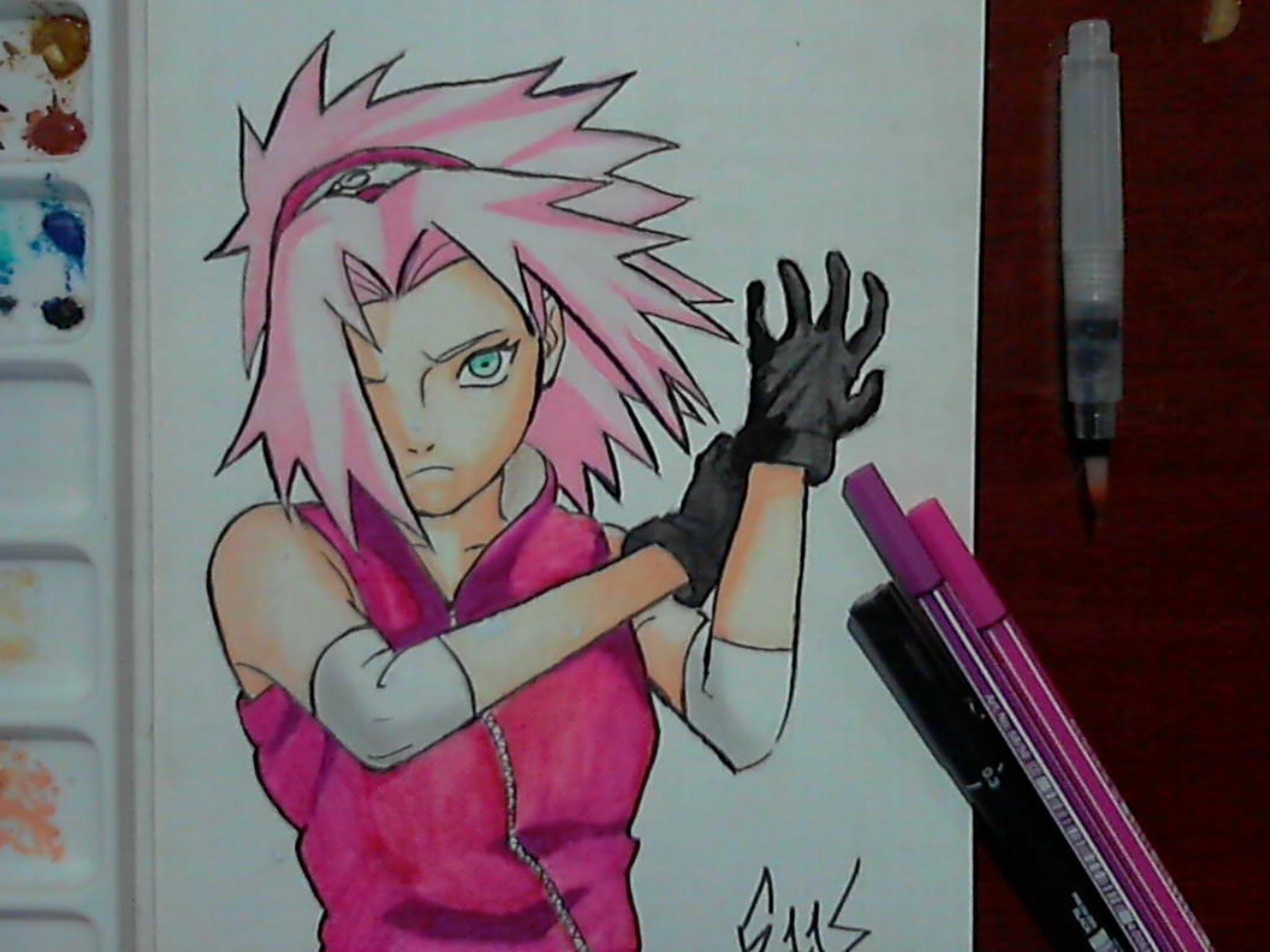 Drawn naruto sakura YouTube [Naruto] [Naruto] Drawing Drawing