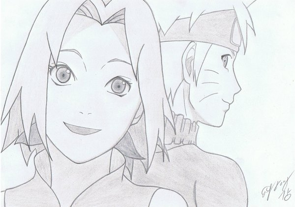 Drawn naruto sakura Naruto by X koreanmonk1984 Smile
