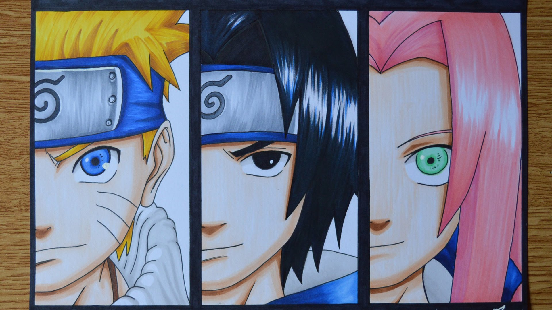 Drawn naruto sakura And YouTube Sasuke and Drawing