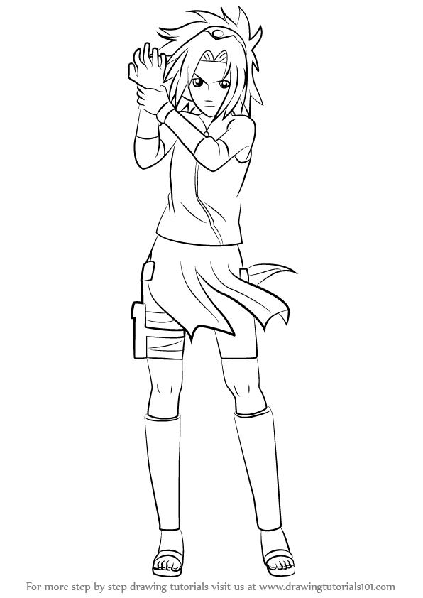 Drawn naruto sakura How Draw Learn Naruto Sakura
