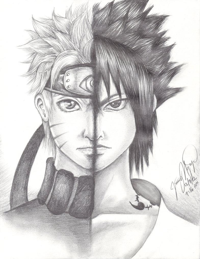 Drawn naruto sasuke By Naruto and and Naruto