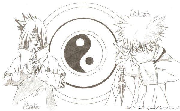 Drawn naruto sasuke Skullvampiregirl naruto drawings by Naruto