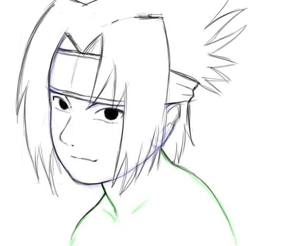 Drawn naruto sasuke Characters Naruto characters: hairs the