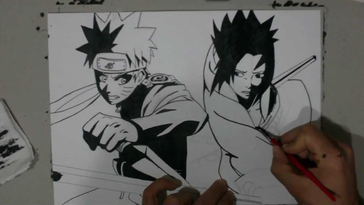 Drawn pice sasuke YouTube Naruto  How draw