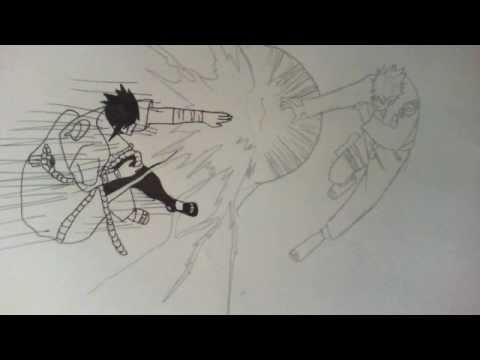Drawn naruto sasuke chidori drawing Vs (Shippuden) How vs to