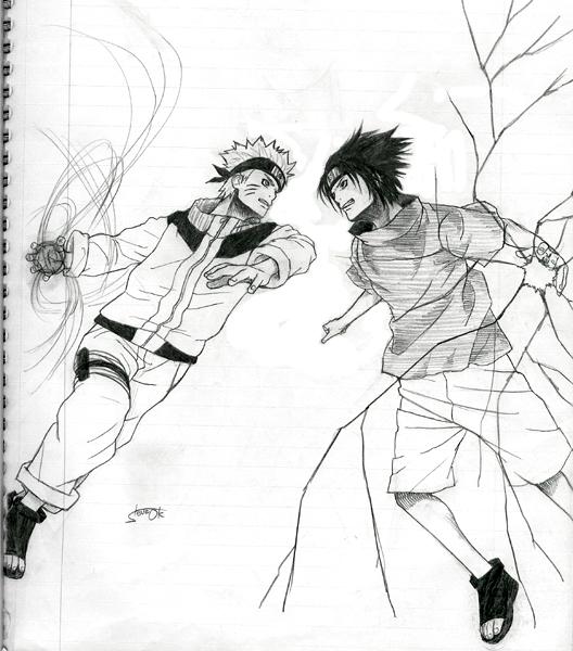 Drawn naruto sasuke chidori drawing DeviantArt Naruto osy057 vs by