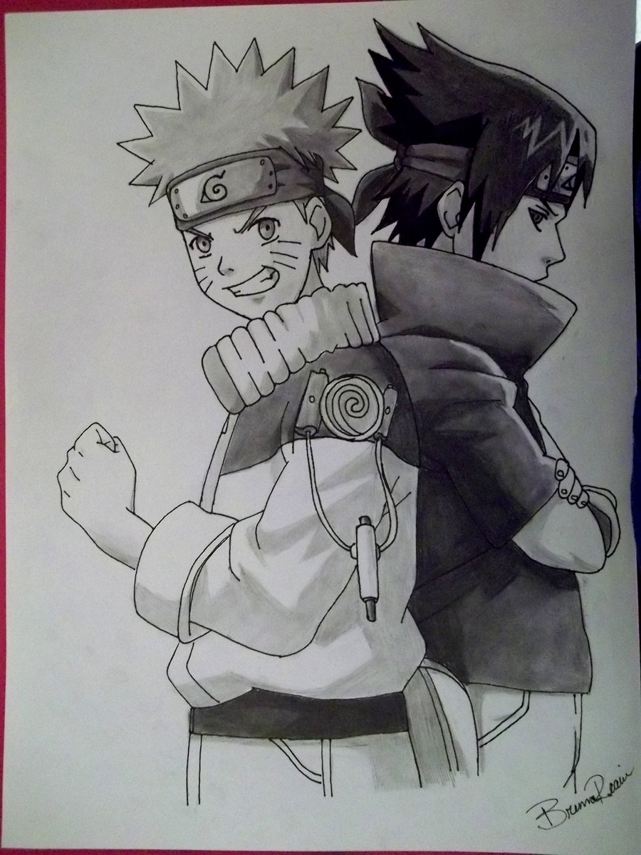Drawn naruto sasuki Naruto Sasuke Sasuke and and
