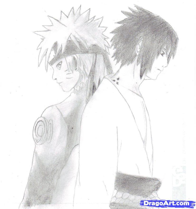 Drawn naruto sasuki To and  naruto draw