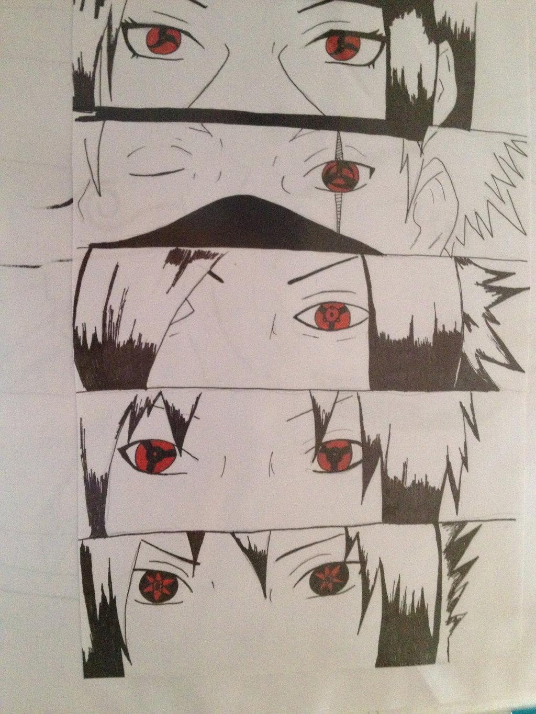 Drawn naruto sharingan How To Draw Naruto Eyes