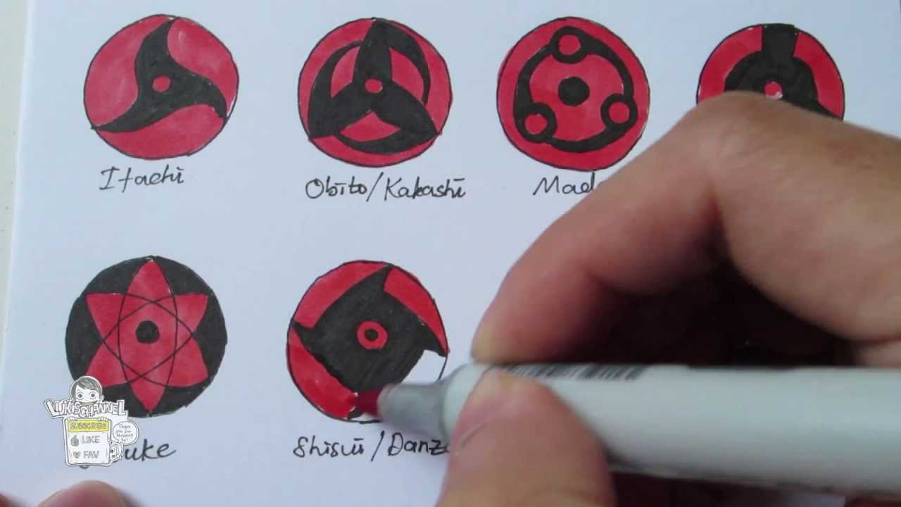 Drawn naruto sharingan How to 万華鏡写輪眼 all draw