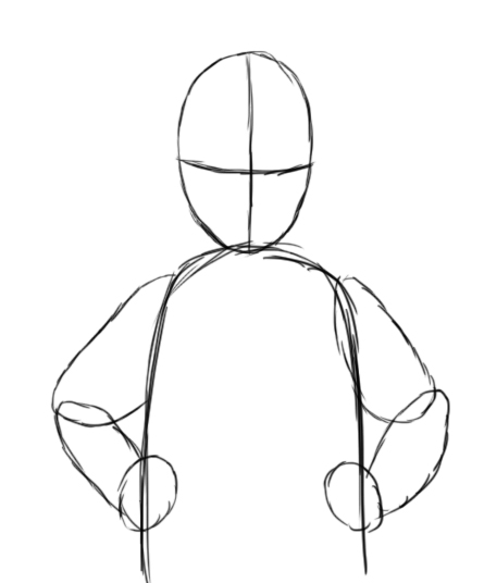 Drawn naruto simple #7