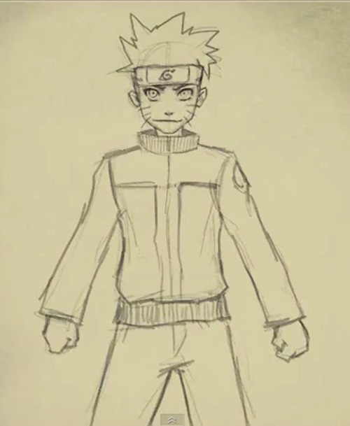 Drawn naruto simple Naruto drawing Uzumaki drawing to