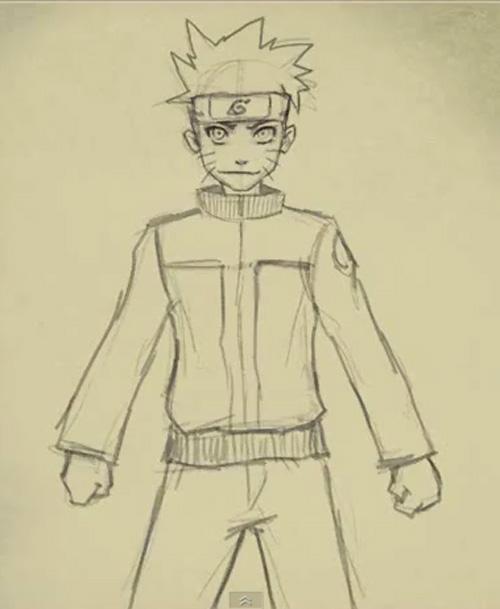 Drawn naruto simple #9