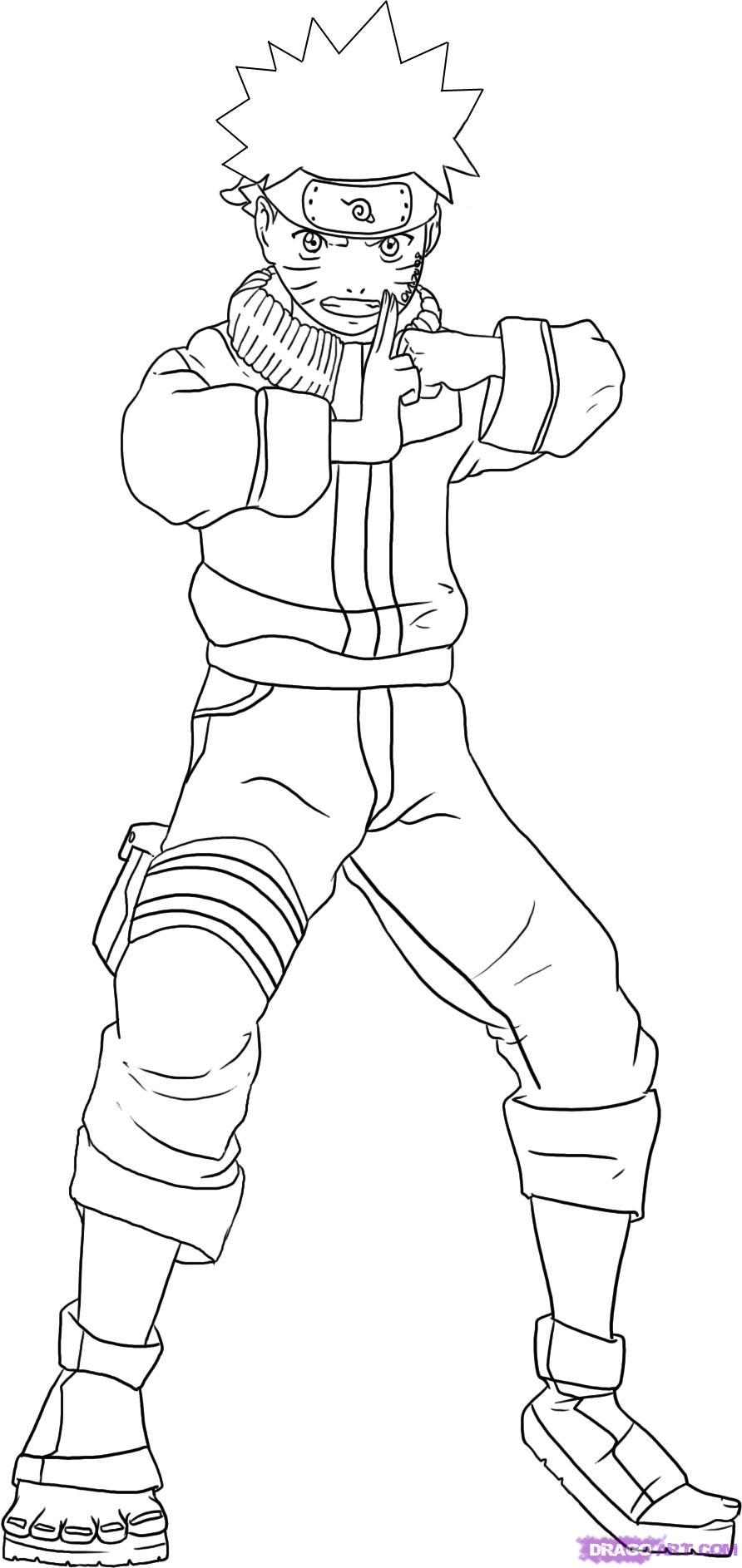 Drawn naruto simple #10