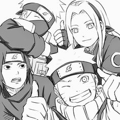 Drawn naruto team 7 Team Twitter Pinterest and (1)