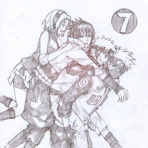 Drawn naruto team 7 Team face this getting Hahaha