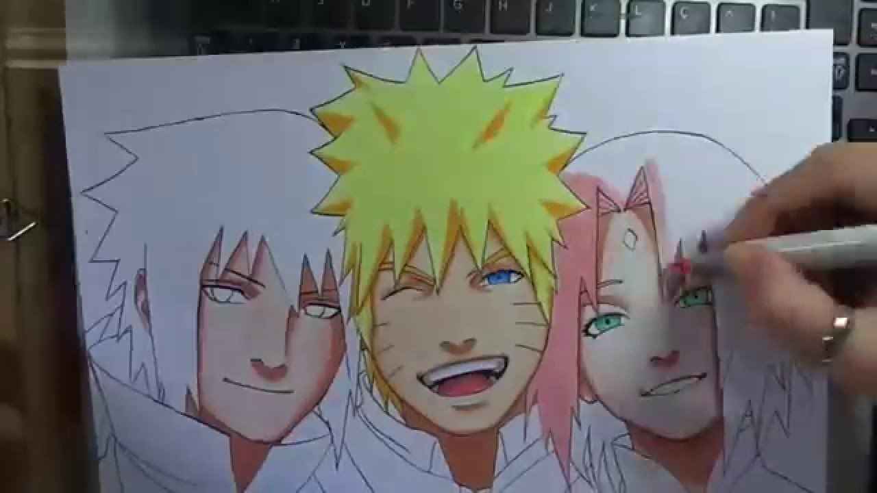 Drawn naruto team 7 7 Drawing YouTube Tribute Naruto