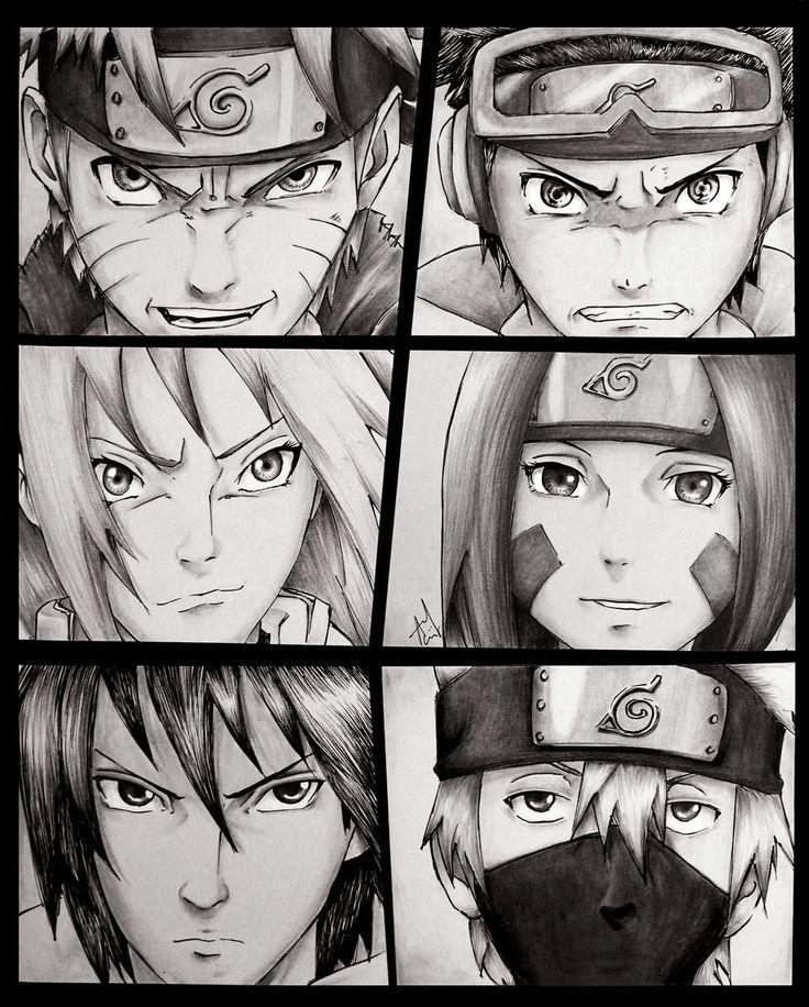 Drawn naruto team 7 About sakura images obito sasuke