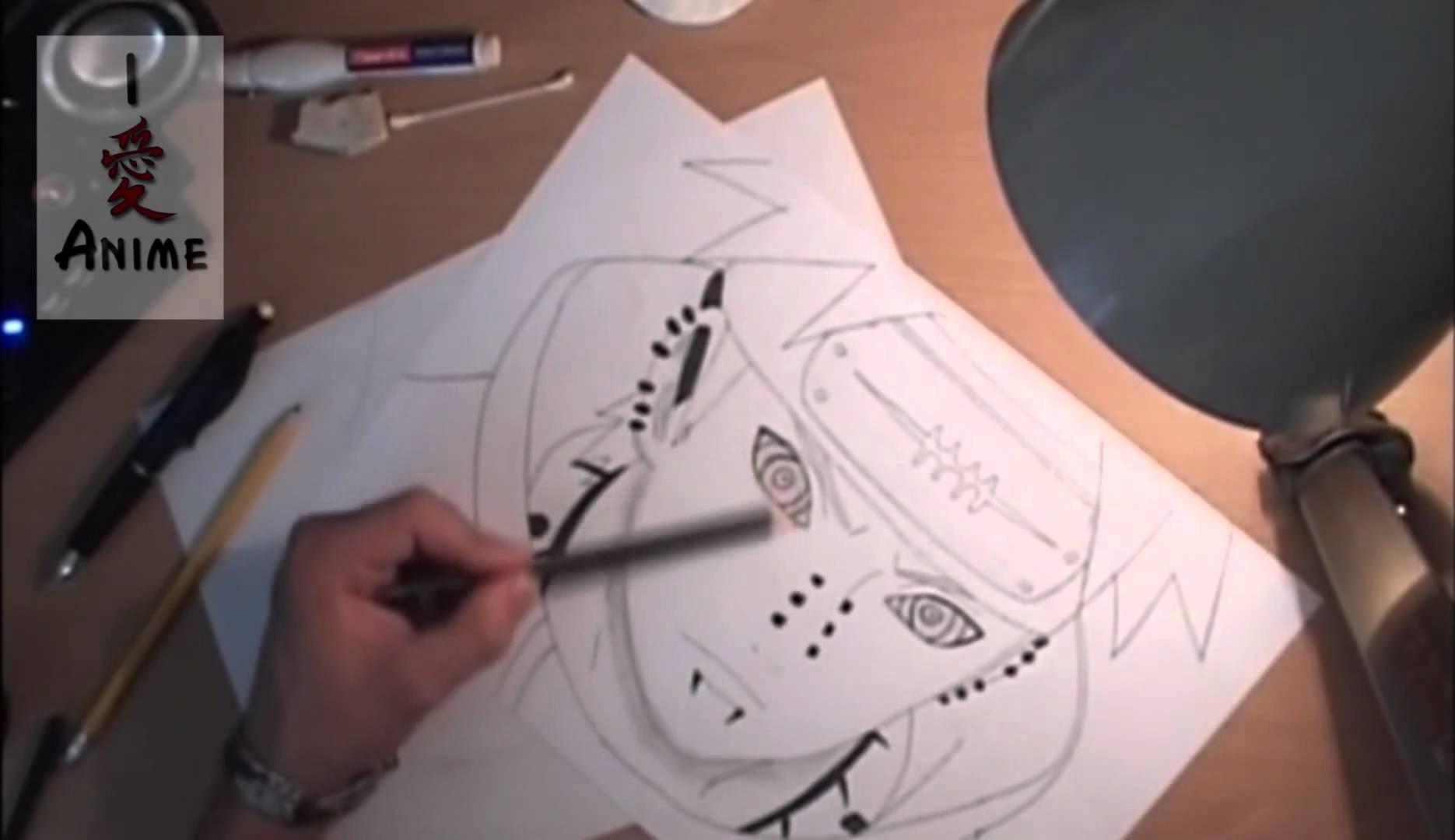 Drawn naruto tendo [Tendo]  Pain Drawing YouTube