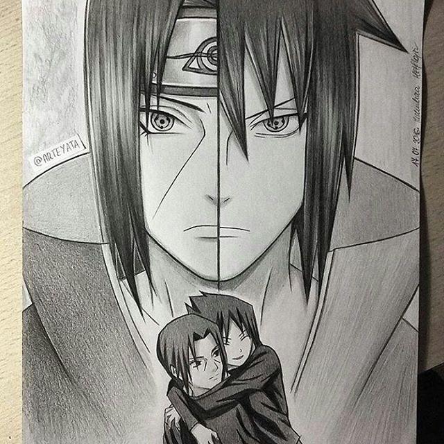 Drawn amd sasuke uchiha Itachi Sasuke #sasukeuchiha uchihas Drawing