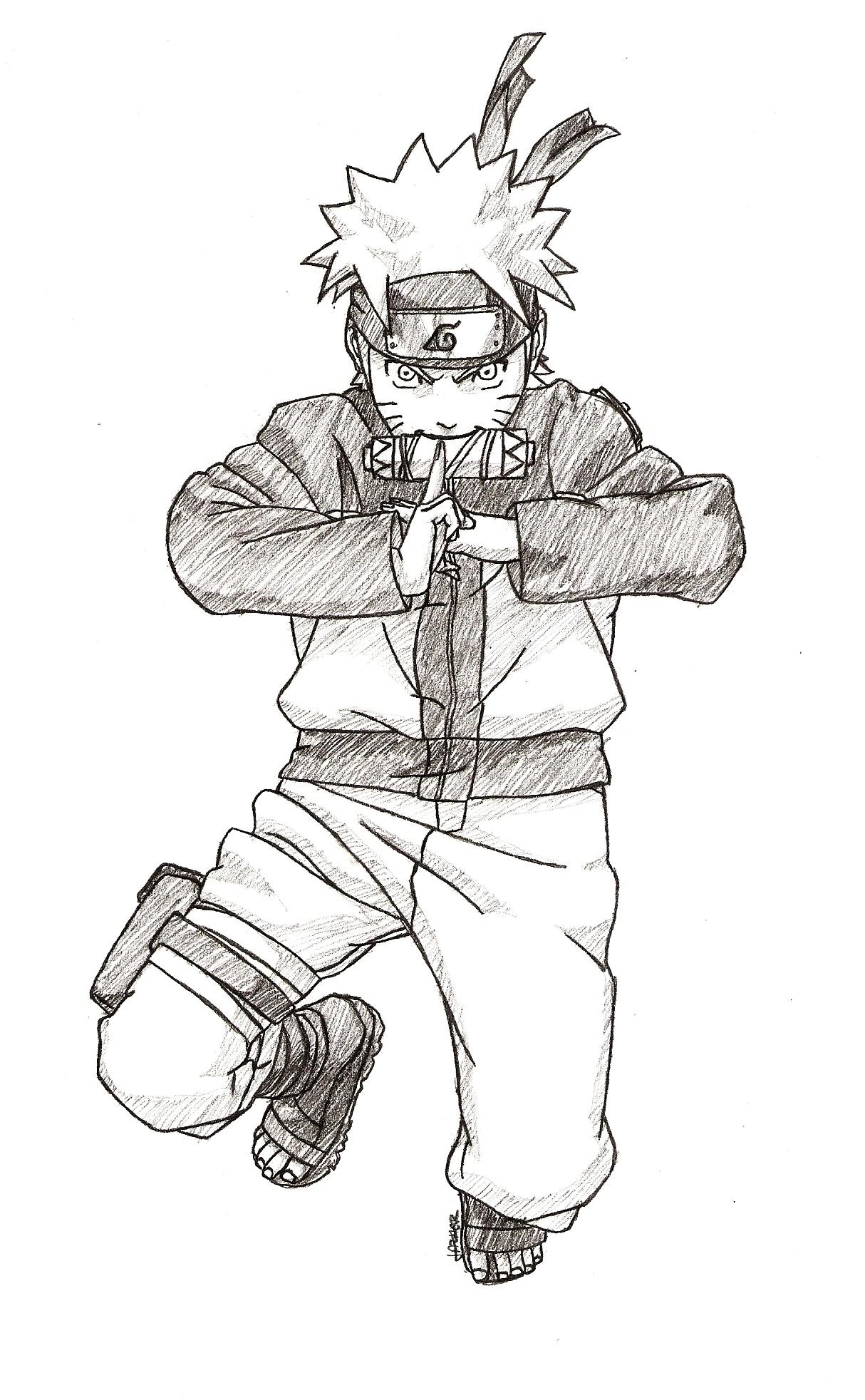 Drawn naruto wallpaper Pencil anime naruto on drawings