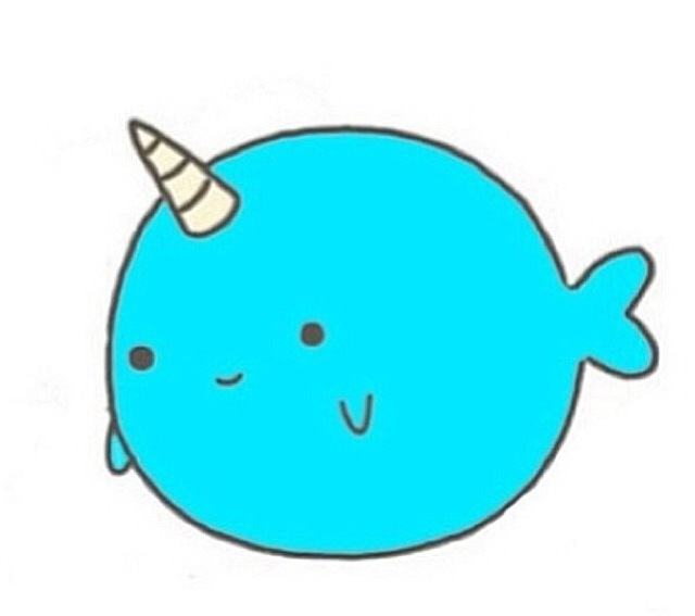 Narwhal clipart mustache drawing And Unicorns more drawings** Pin