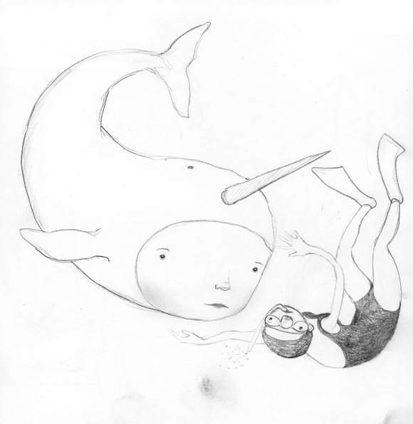 Drawn narwhal little The narwhal Lisa though…he's boy