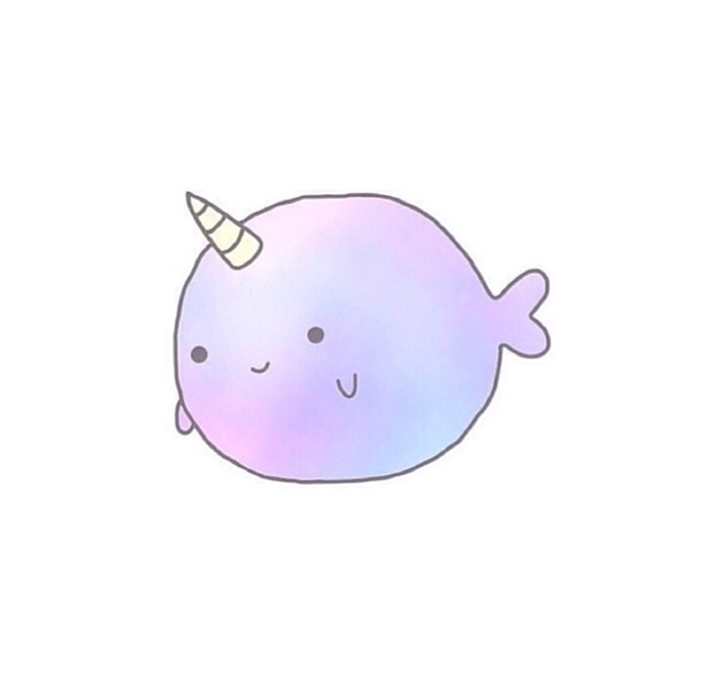 Narwhal clipart cute Transparent❤️ narwhal narwhal transparent❤ cute