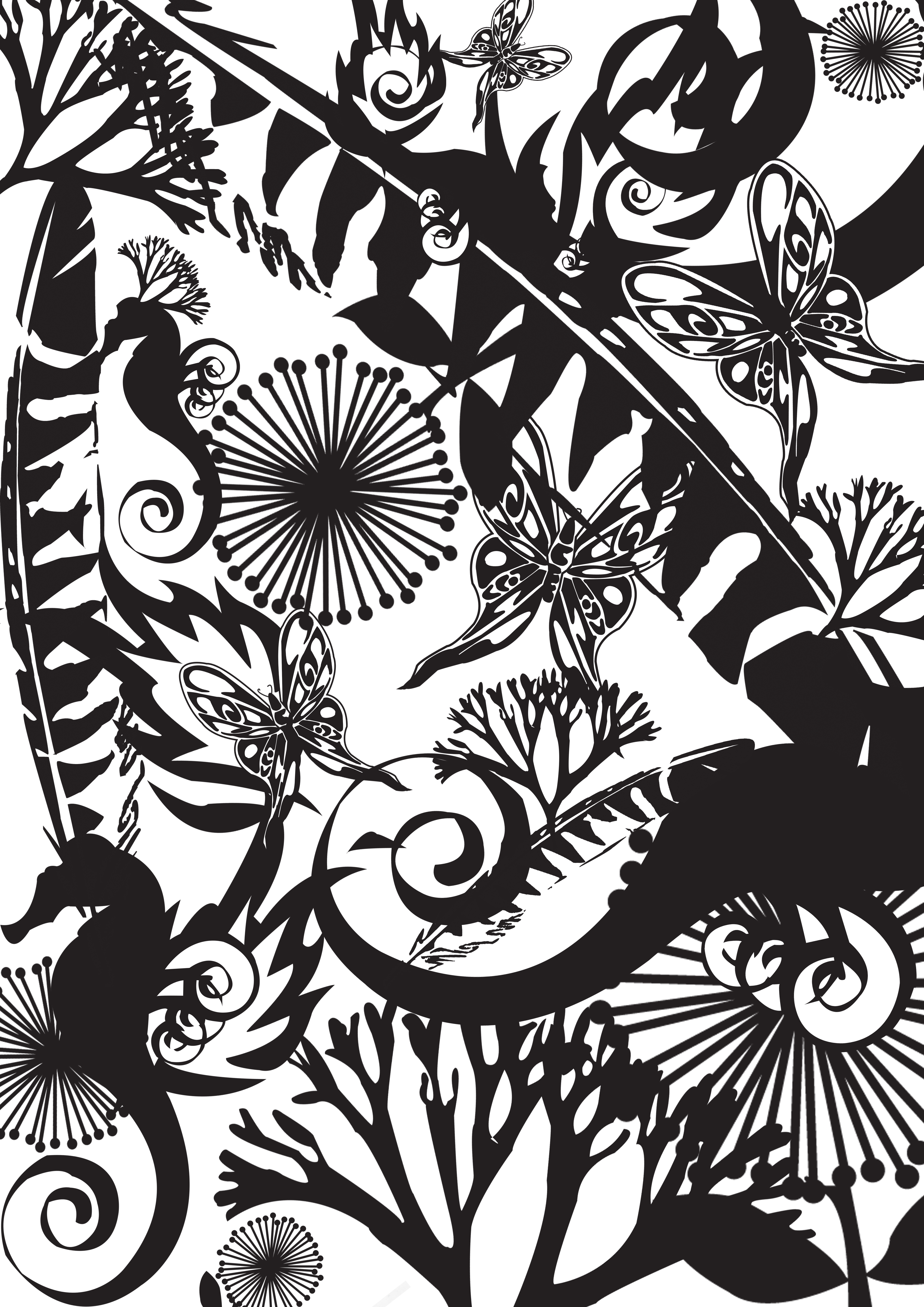 Drawn nature – creative Adobe Patterns pen