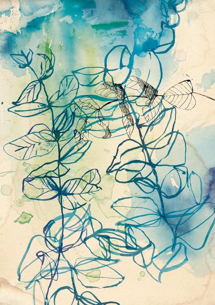 Drawn nature leaf Drawing 25+ The Leaf blue