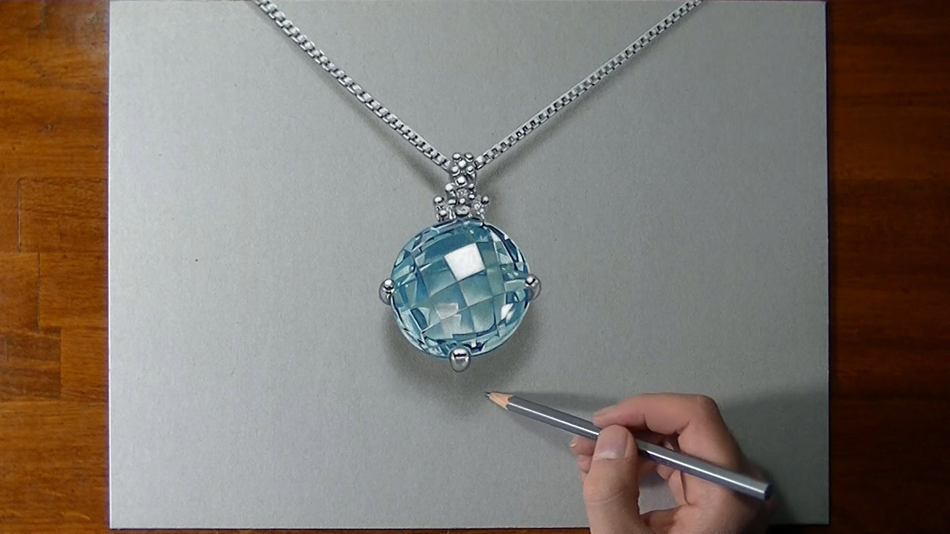 Drawn necklace  3D to draw a