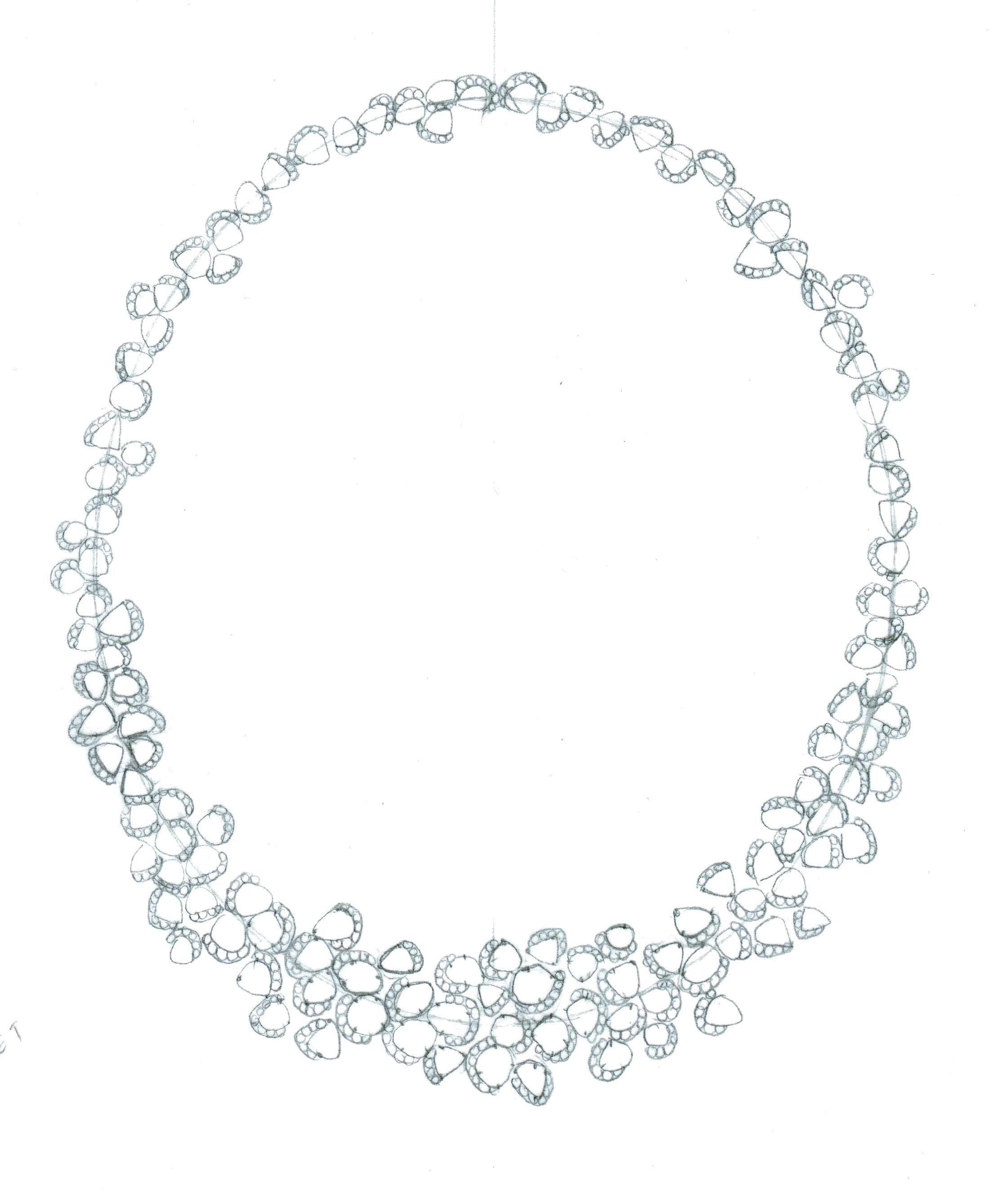 Drawn necklace Champagne #art  #art wreath