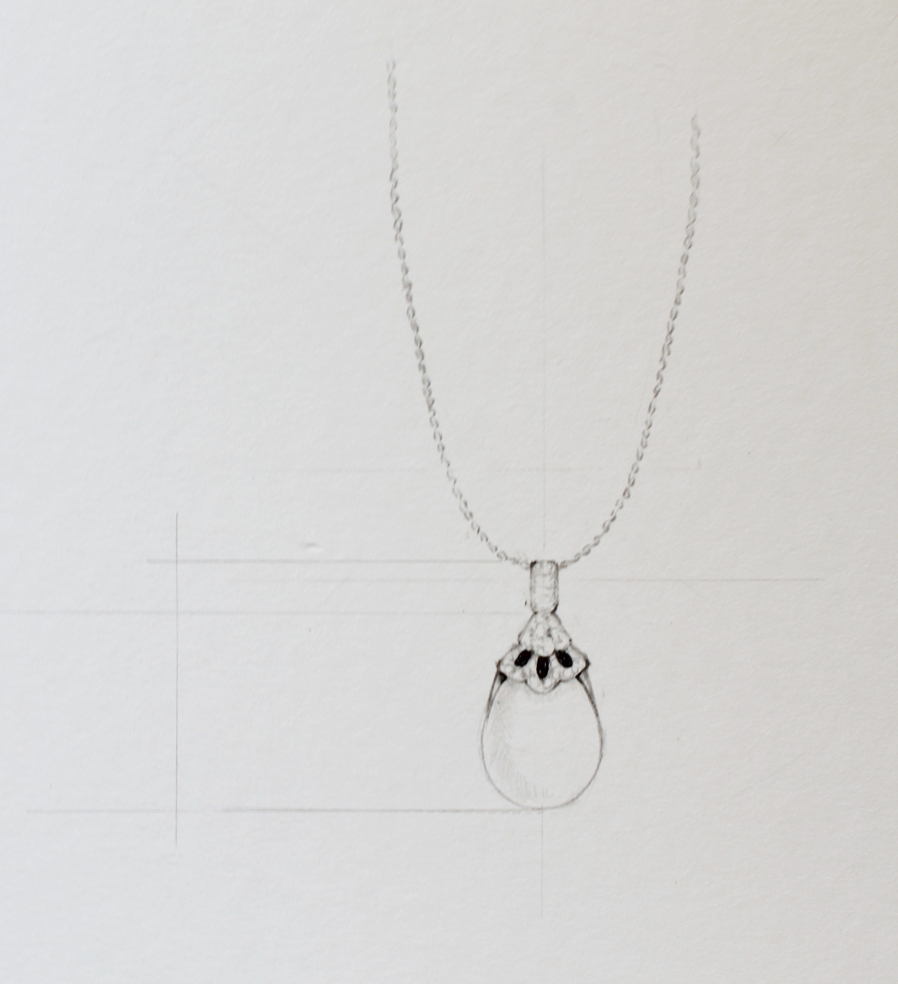 Drawn necklace Drawing To step 5 How