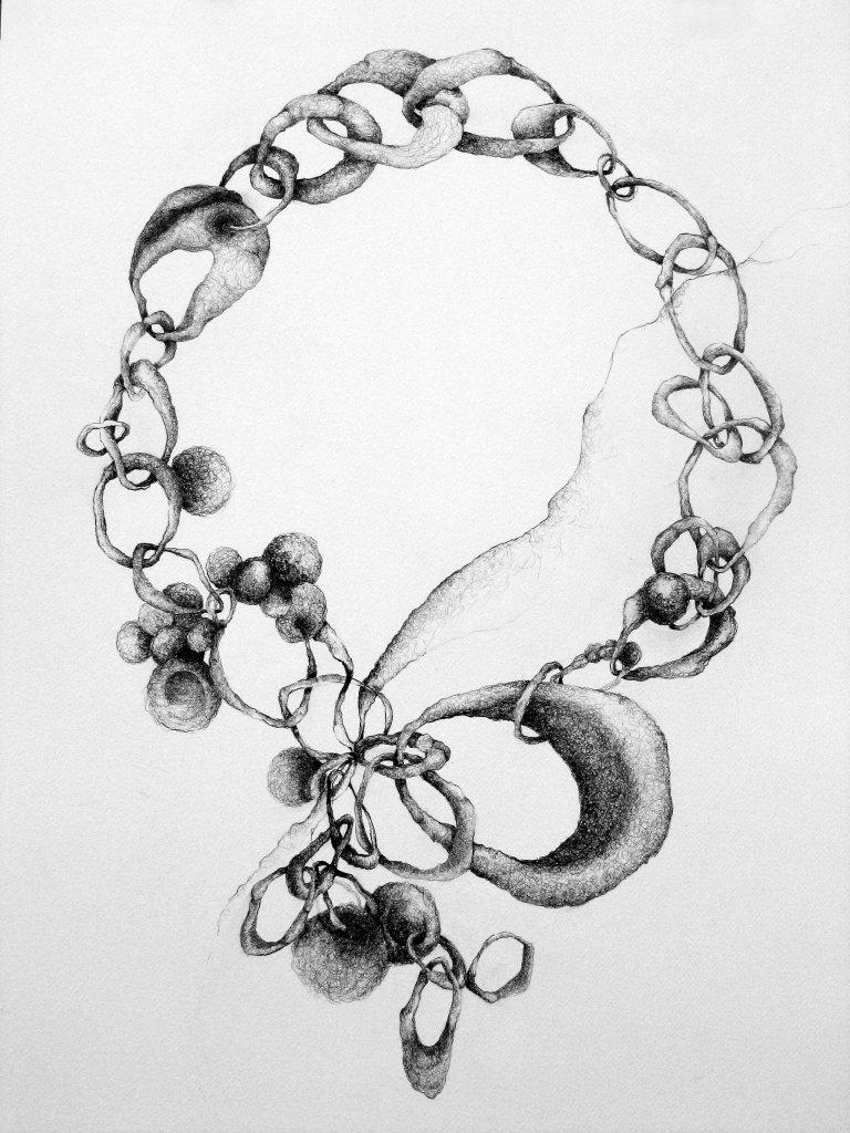Drawn necklace Jewellery design design necklace necklace