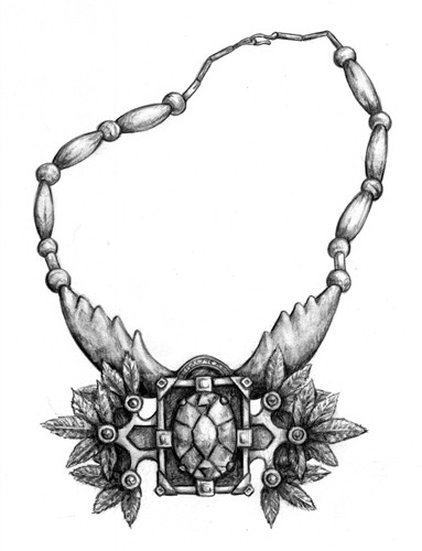 Drawn necklace Item necklace Dragonlance  Illustration